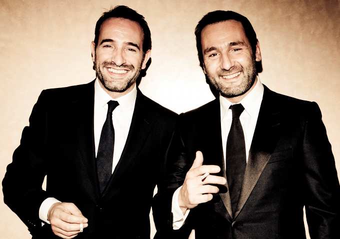 Watch 2 clips from the artist duo jean dujardin for Dujardin hazanavicius