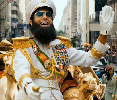 Even When Sticking To A Script Sacha Baron Cohen Leaves No Target Untouched His New Movie Opens With A Dedication To The Memory Of Kim Jong Il And Closes
