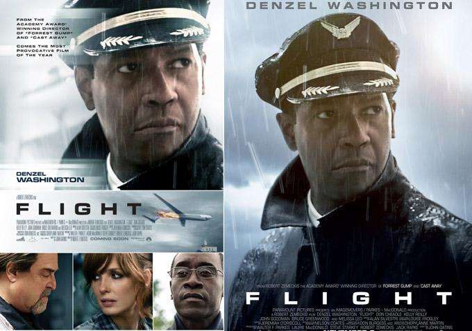 Denzel Washington Flight Poster