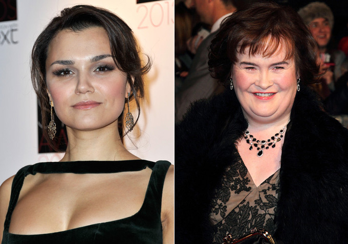 'Les Miserables' Star Samantha Barks & Susan Boyle Light ...