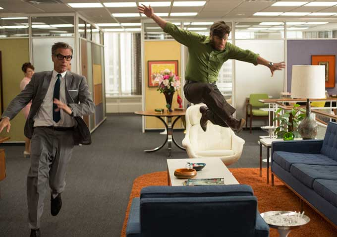 Mad Men Office mad men' brings together an office on uppers and flashbacks to