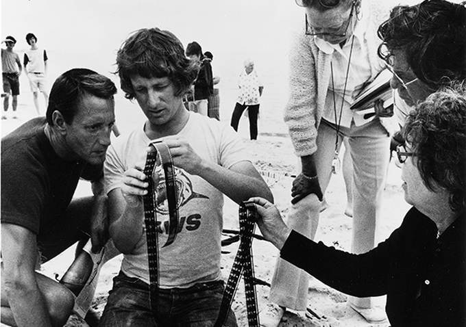 how does the director steven spielberg create tension in the film jaws Thanks to peter benchley's original novel, and spielberg's uncanny ability to make a rubber shark look convincing, the effect of 1975's jaws on our consciousness has been indelible.