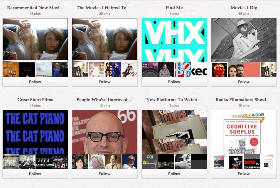 10 Pinterest Boards Filmmakers Should Be Following