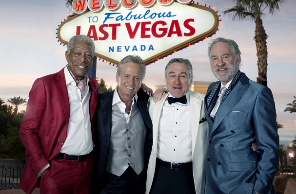 """watch new trailer for old men s hangover last vegas starring a new trailer for jon turtletaub s """"last vegas"""" cbs films 1 hollywood s latest """"grumpy old men"""" comedy aimed at the senior demo has landed"""