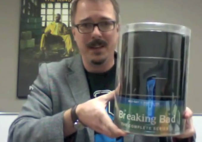 Watch: 'Breaking Bad' Creator Vince Gilligan Shows Off the 'Breaking Bad' Complete Box Set