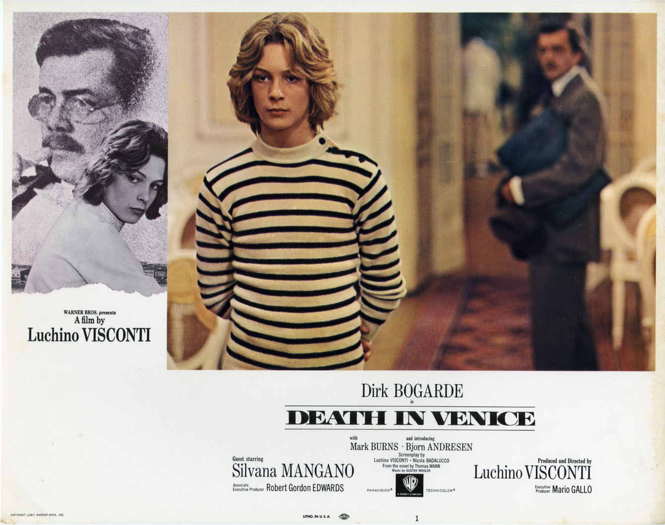 death in venice I think the thing that disappoints me most about luchino visconti's death in venice is its lack of ambiguity visconti has chosen to abandon the subtleties of the thomas mann novel and present us with a straightforward story of homosexual love, and although that's his privilege, i think he has missed the.