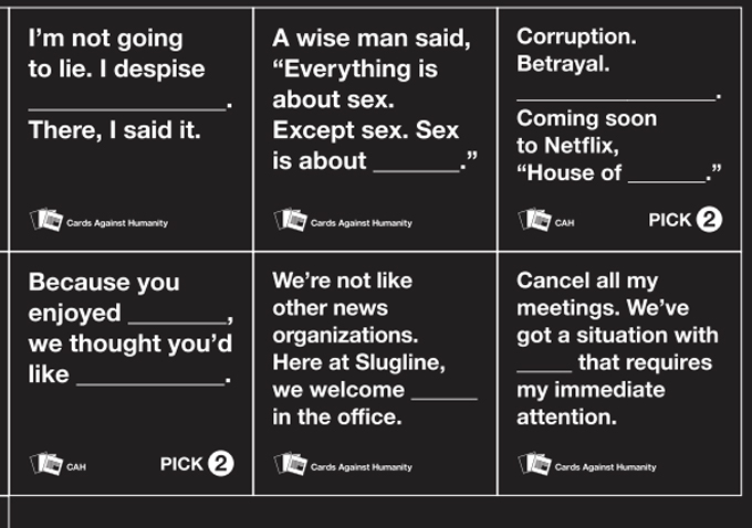 House of Cards Against Humanity: Play on Words Leads to Free Cards Courtesy of Netflix   IndieWire