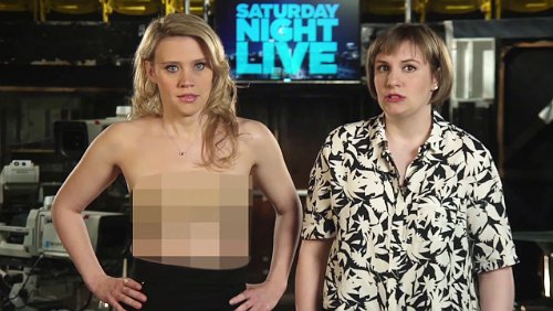 Must Watch Kate Mckinnon Gets Naked For Lena Dunham In Snl Promo