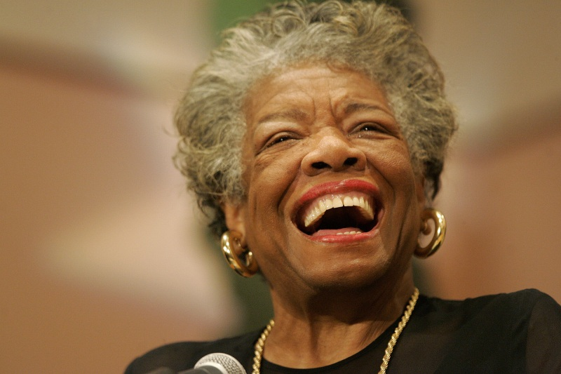 Image of Maya Angelou looking happy!