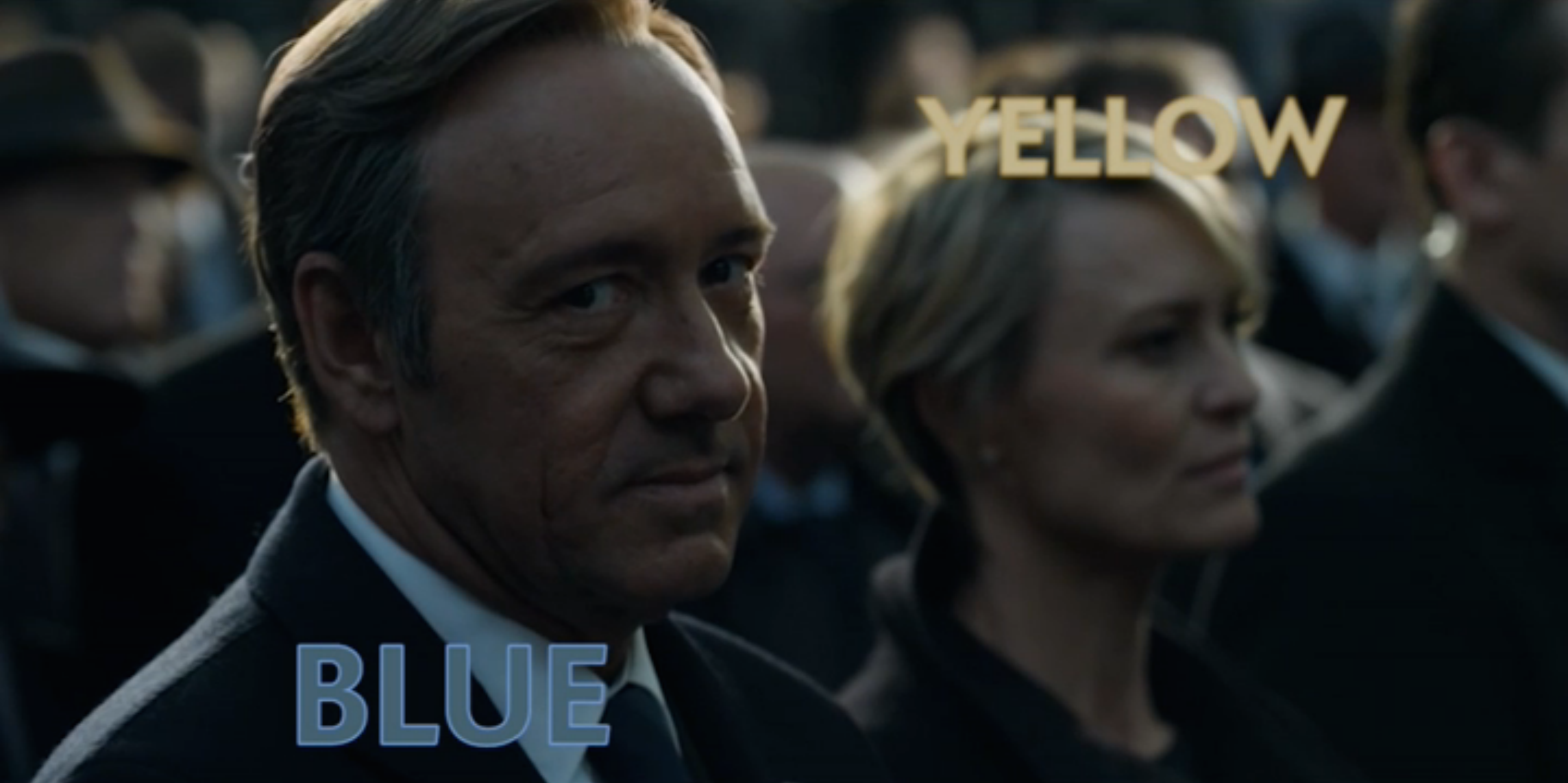 The Two Color Conspiracy in House of Cards