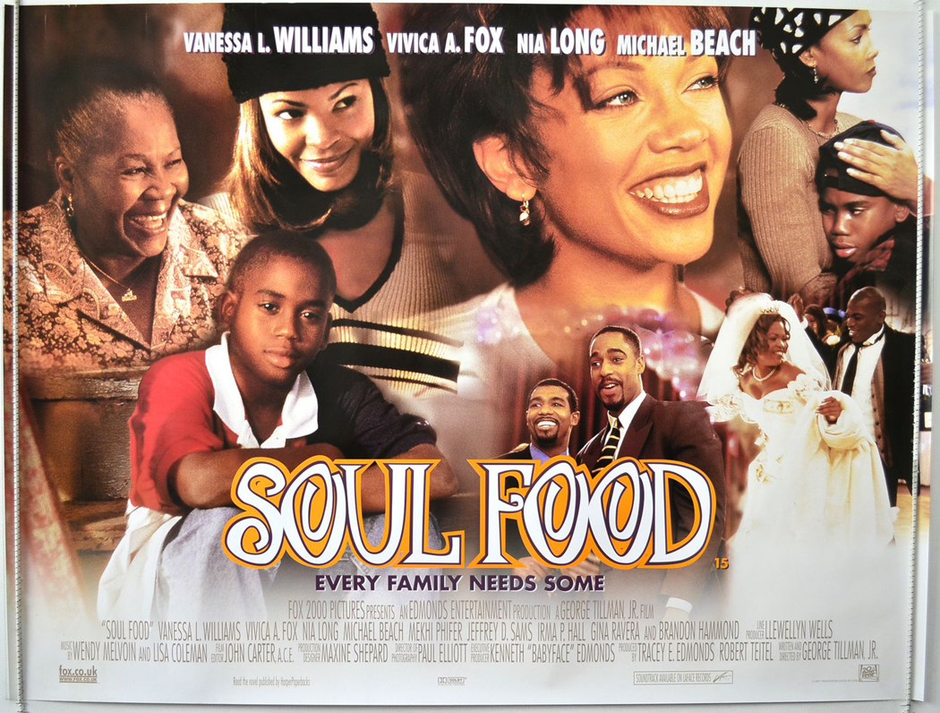 essay on the movie soul food That movie, about a chinese chef in the wonderful tortilla soup was originally a chinese patriarch in the like water for chocolate, big night, soul food.