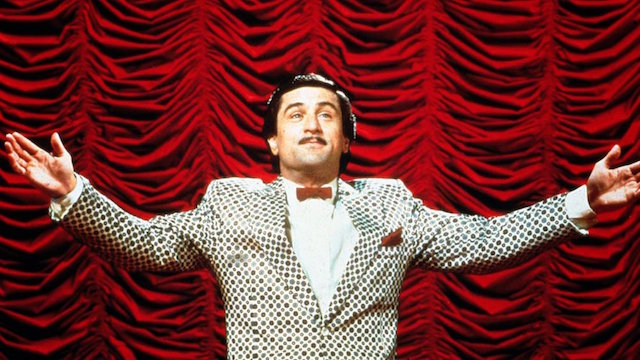 Robert De Niro in a poka dot suit in The King of Comedy