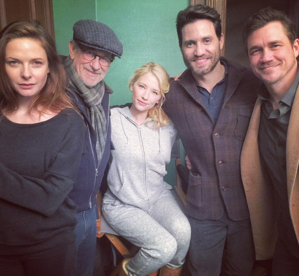 First Look: Steven Spielberg, Tate Taylor and 'The Girl on the Train' Cast