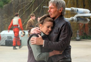 Star Wars Force Awakens Carrie Fisher Harrison Ford