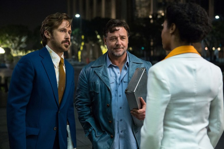 The Nice Guys Retro Trailer Ryan Gosling Russell Crowe Bumble Their Way Through 70s L A Watch