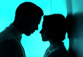 Kristen Stewart and Nicholas Hoult in Drake Doremus' Equals