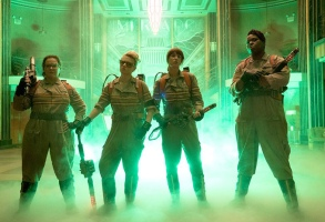 Melissa McCarthy, Kate McKinnon, Kristen Wiig and Leslie Jones in Ghostbusters