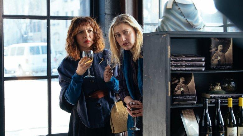 Greta Gerwig and Maya Rudolph in Maggie's Plan