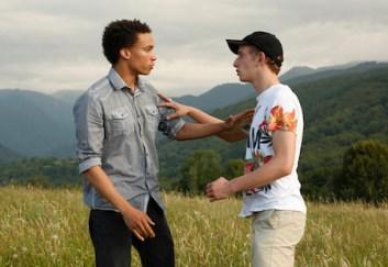 "Corentin Fila (Thomas) and Kacey Mottet Klein (Damien) in ""Being 17"""