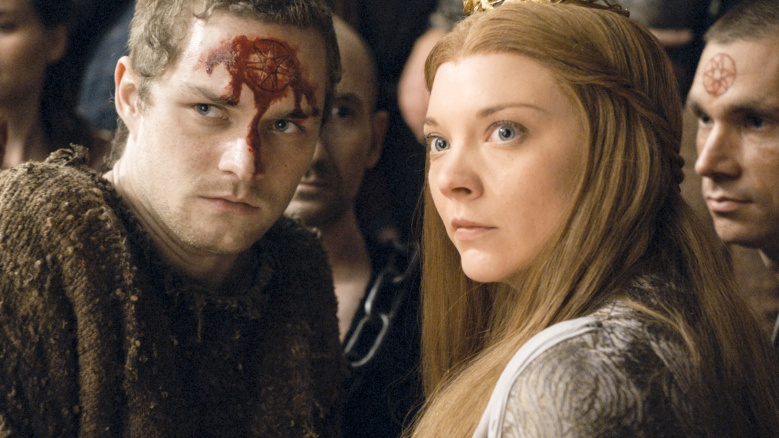 "Finn Jones and Natalie Dormer in ""Game of Thrones."""