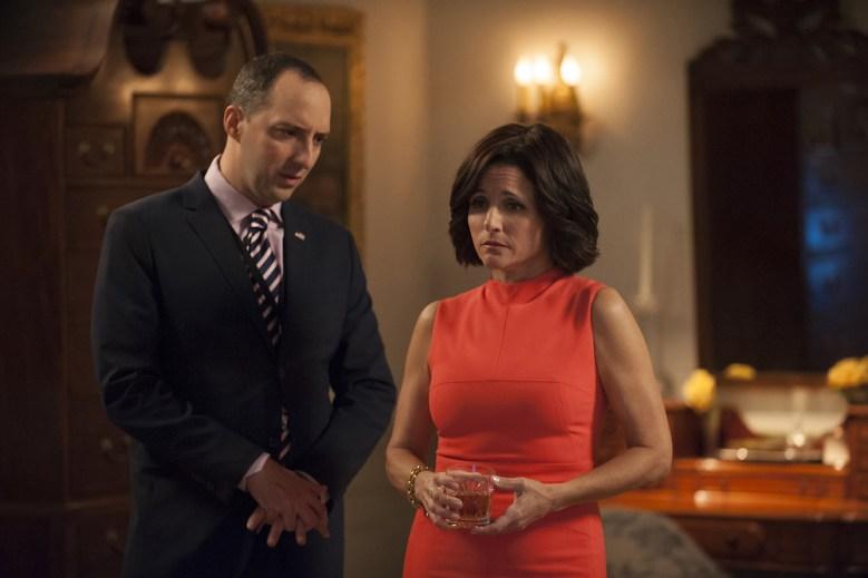 Veep Season 5 finale Tony Hale & Julia Louis-Dreyfus