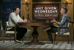 """Ben Affleck and Bill Simmons in """"Any Given Wednesday."""""""