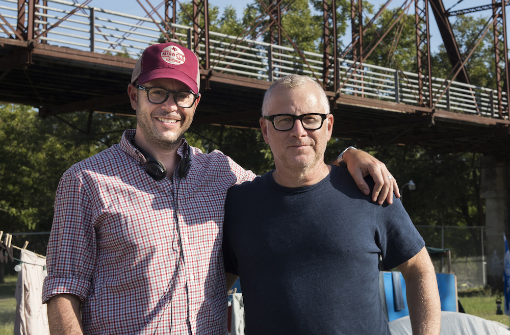 "Damon Lindelof & Tom Perrotta on the set of ""The Leftovers"" Season 2 finale"