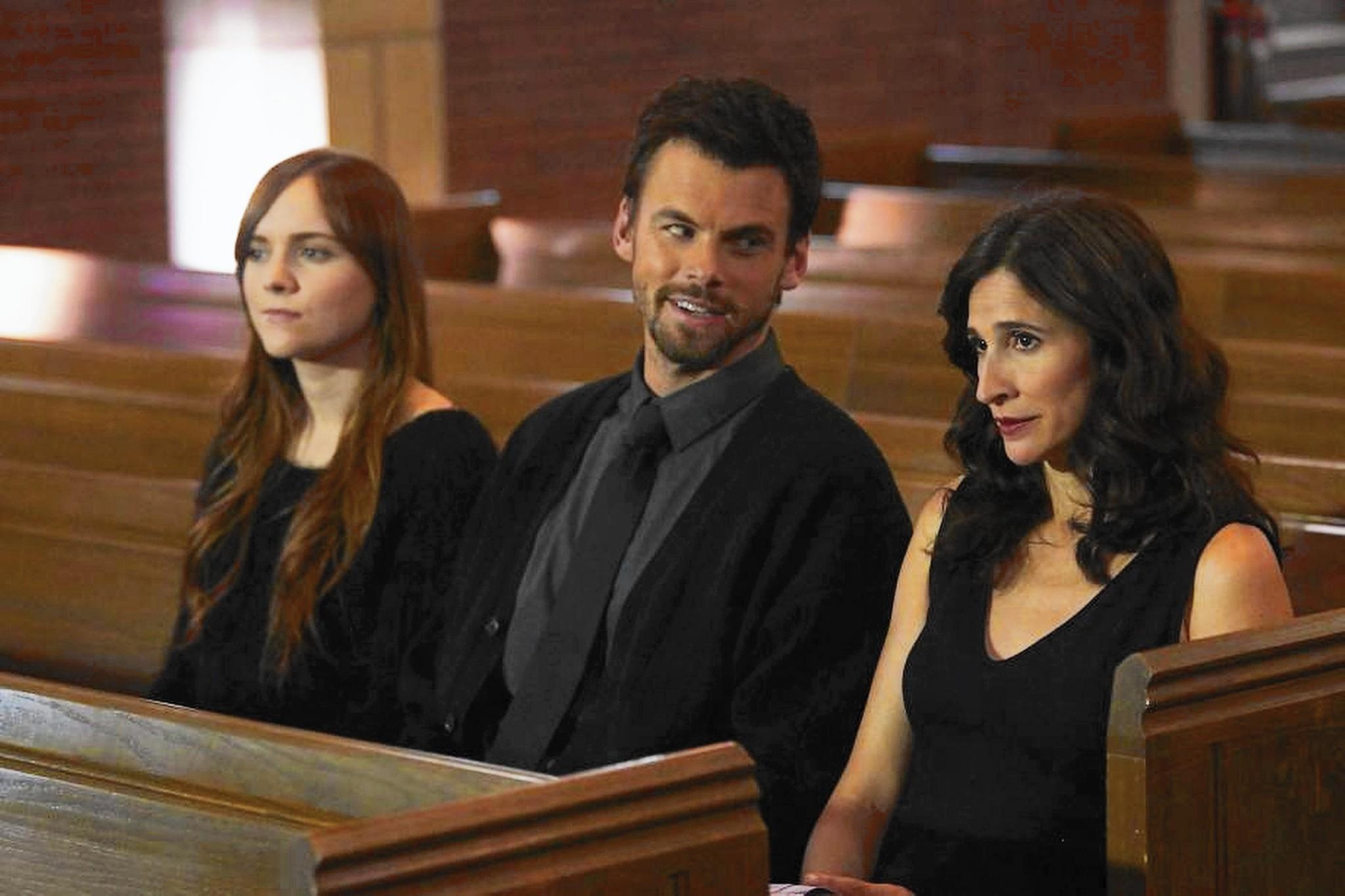 """Tara Lynne Barr, Tommy Dewey and Michaela Watkins in """"Casual."""""""