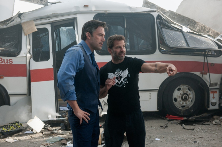 "Ben Affleck and Zack Snyder on the set of ""Batman V Superman: Dawn of Justice"""