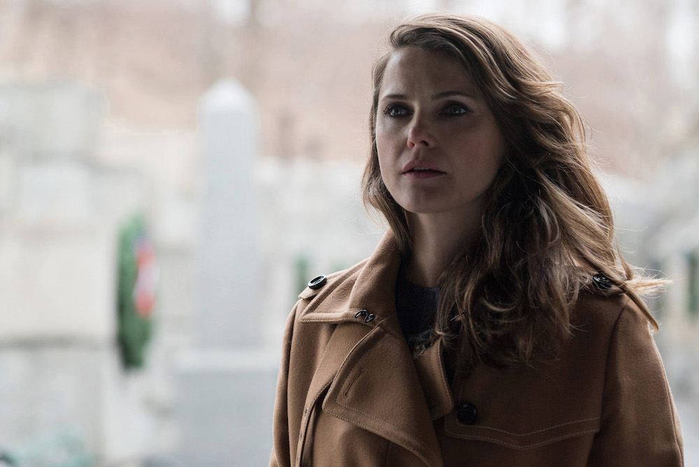 "THE AMERICANS -- ""Persona Non Grata"" Episode 413 (Airs, Wednesday, June 8, 10:00 pm/ep) -- Pictured:Keri Russell as Elizabeth Jennings . CR: Ali Goldstein/FX"