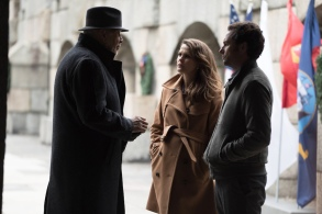 "THE AMERICANS -- ""Persona Non Grata"" Episode 413 (Airs, Wednesday, June 8, 10:00 pm/ep) -- Pictured: (l-r) Frank Langella as Gabriel, Keri Russell as Elizabeth Jennings, Matthew Rhys as Philip Jennings . CR: Ali Goldstein/FX"