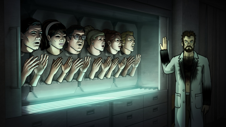 "ARCHER -- ""Motherless Child"" -- Episode 704 (Airs Thursday, April 21, 10:00pm e/p) Pictured: Dr. Algernop Krieger (voice of Lucky Yates). CR: FX"