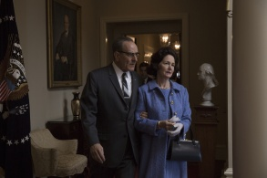 """Bryan Cranston and Melissa Leo in """"All the Way."""""""
