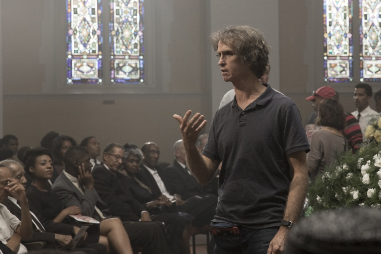 "Jay Roach on the set of ""All the Way."""
