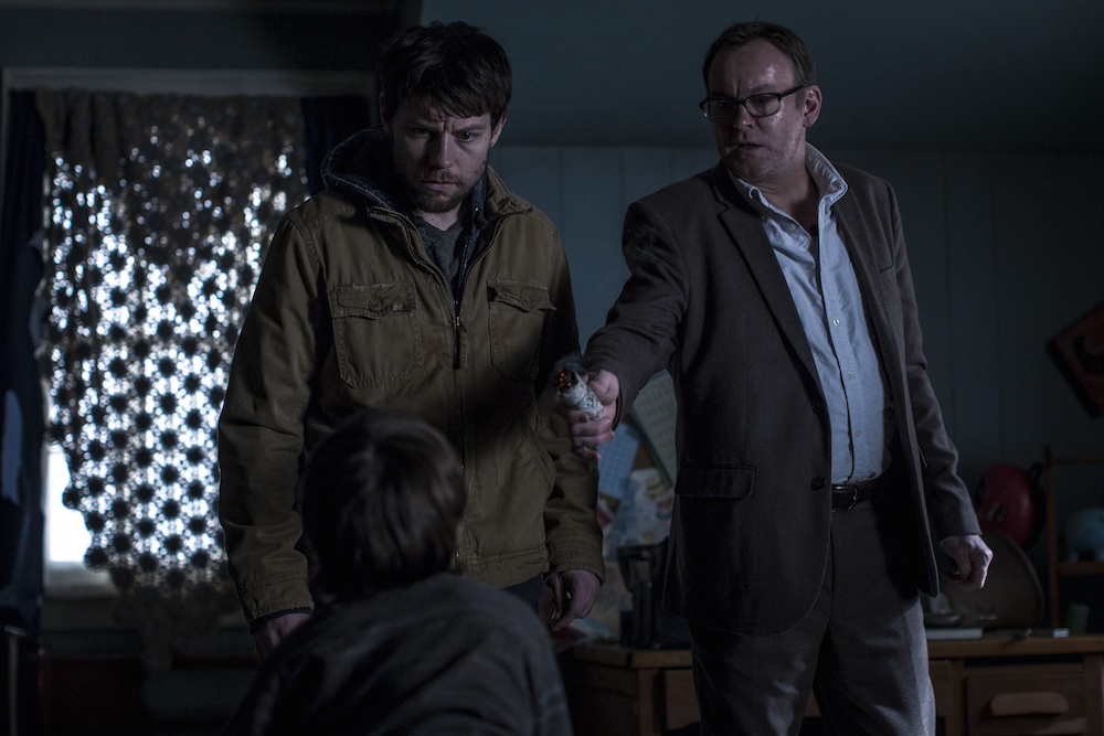 """Outcast"" Season 1 Episode 1 Patrick Fugit Philip Glenister"