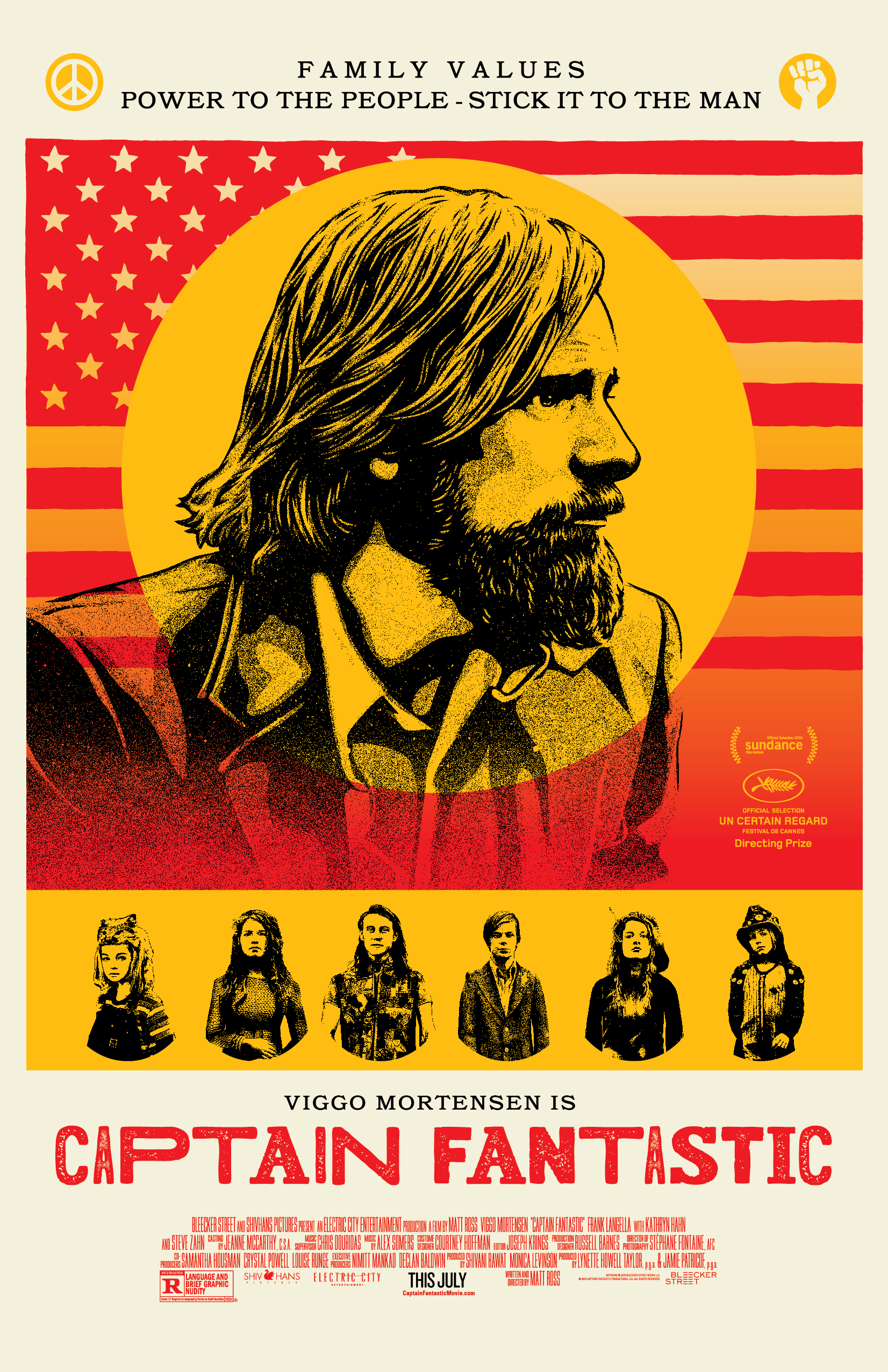 Captain Fantastic poster by Shepard Fairey