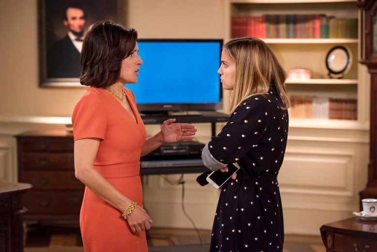 "Julia Louis-Dreyfus & Anna Chlumsky in ""Veep"" Season 5 Episode 9"