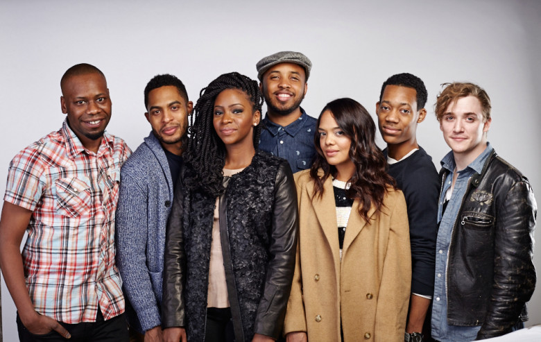 "Justin Simien and the cast of ""Dear White People"""