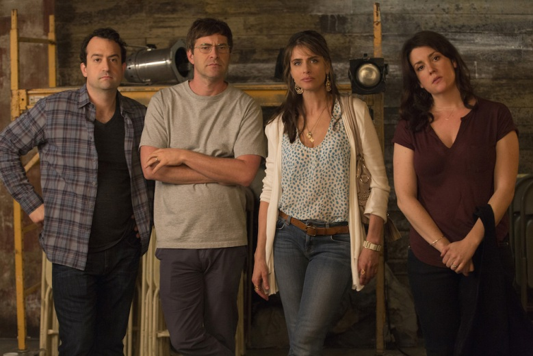 "Steve Zissis, Mark Duplass, Amanda Peet & Melanie Lynskey in ""Togetherness"" Season 2"