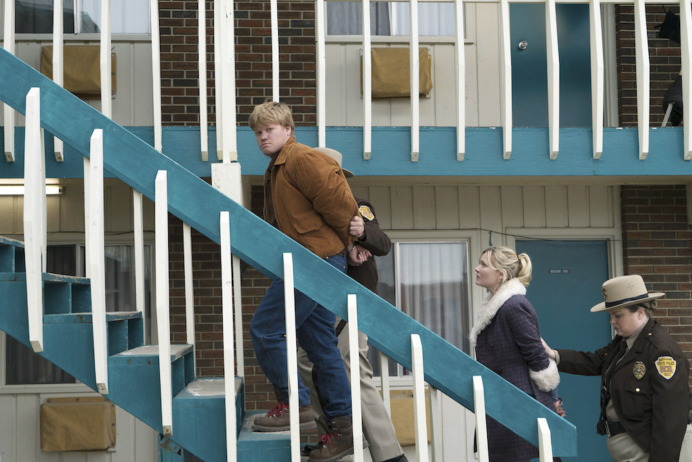 "FARGO -- ""The Castle"" -- Episode 209 (Airs Monday, December 7, 10:00 pm e/p) Pictured: Jesse Plemons as Ed Blumquist, Kirsten Dunst as Peggy Blumquist."