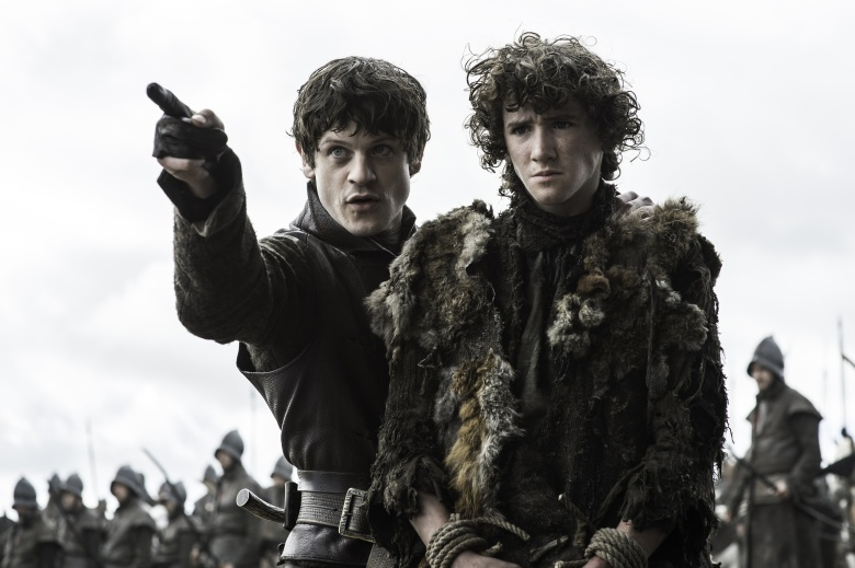 "Iwan Rheon and Art Parkinson in ""Game of Thrones."""