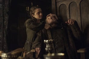 """Maisie Williams and David Bradley in """"Game of Thrones."""""""