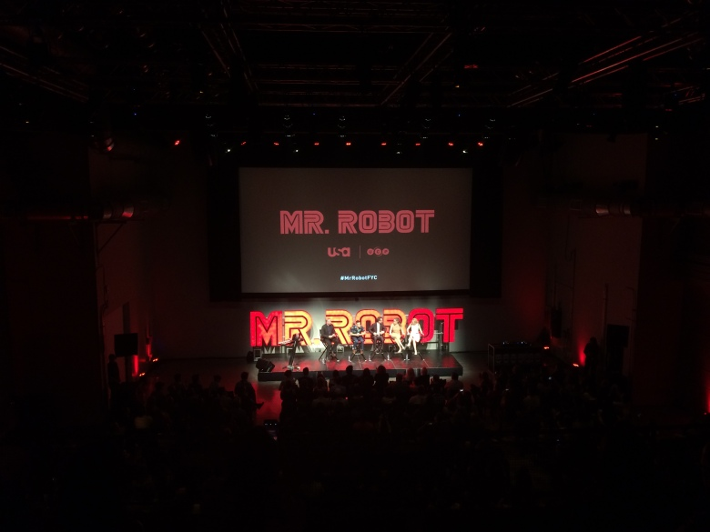 "The ""Mr. Robot"" cast and crew at Neuehouse."