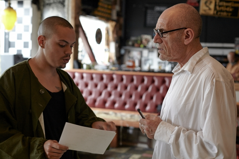 "Evan Ross and Tony Kaye shooting test footage for ""Stranger Than the Wheel"""