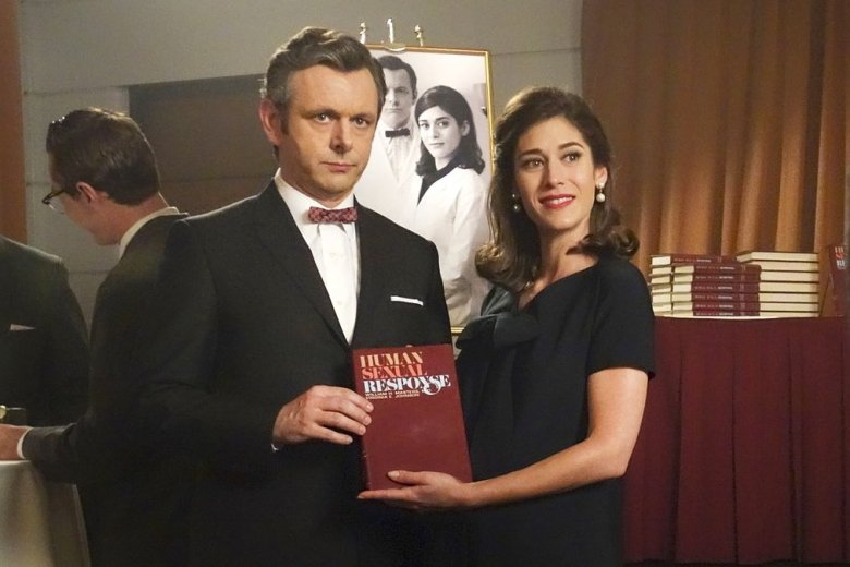 Michael Sheen and Lizzy Caplan in 'Masters of Sex'