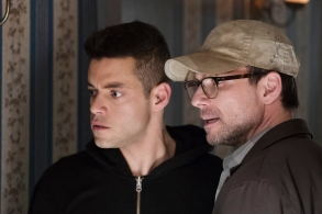 "Rami Malek and Christian Slater in ""Mr. Robot."""