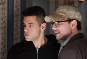 "Rami Malek and Christian Slater in ""Mr. Robot."""