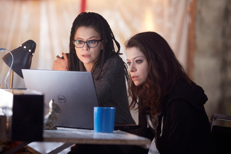"Tatiana Maslany and Tatiana Maslany in ""Orphan Black."""