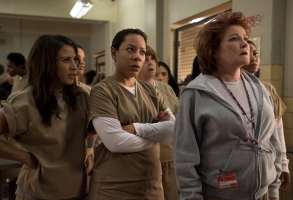 "Aleida (Elizabeth Rodriguez), Gloria (Selenis Leyva) and ""Red"" (Kate Mulgrew)"