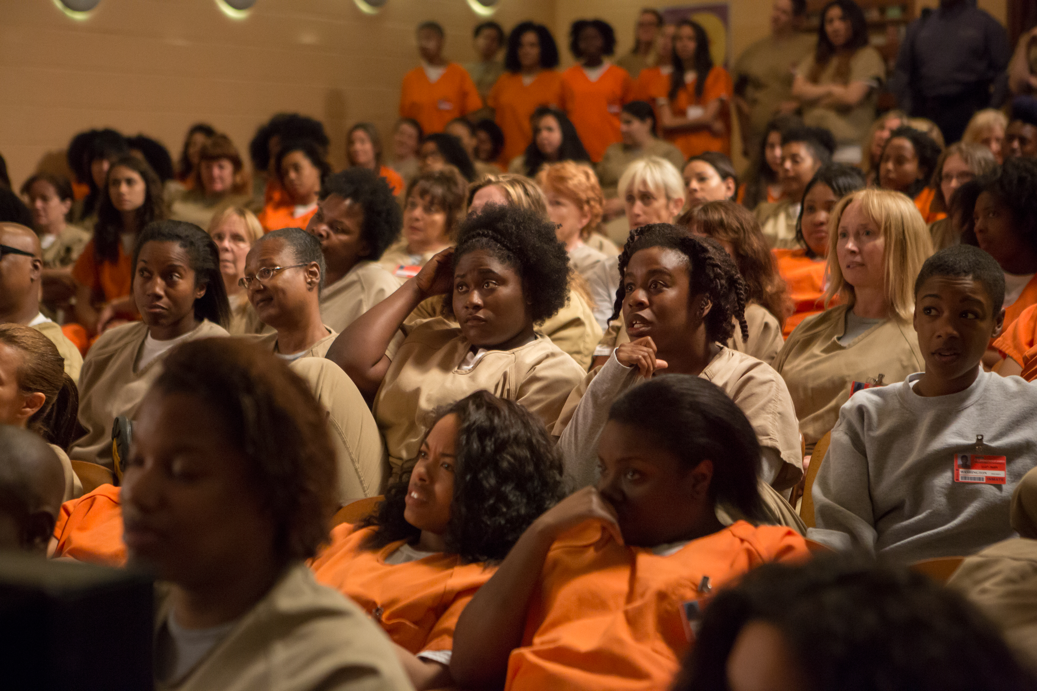 "Danielle Brooks, Samira Wiley, Uzo Aduba and Selenis Leyva in ""Orange is the New Black."""